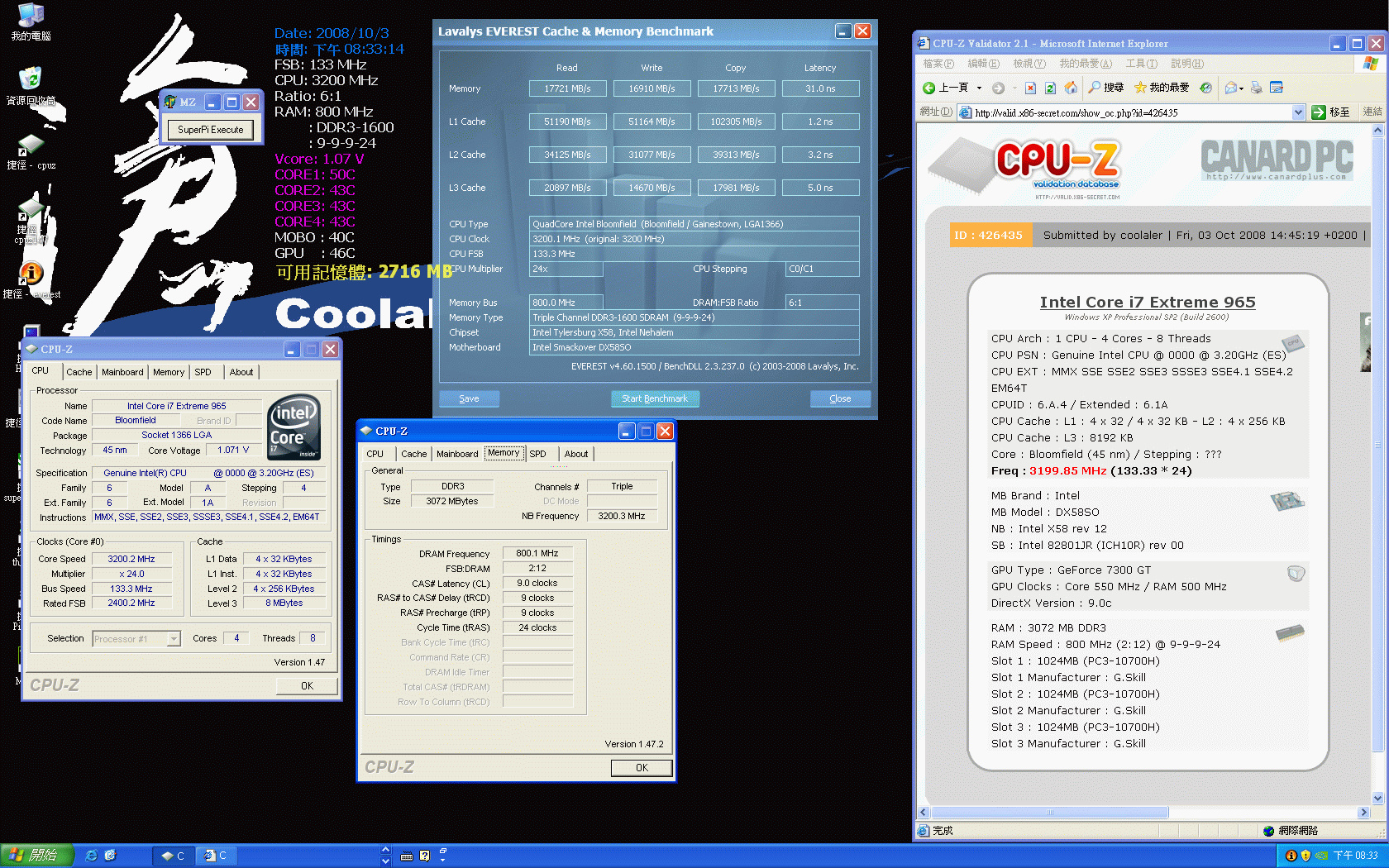 Benchmarks vom Core i7 965 XE