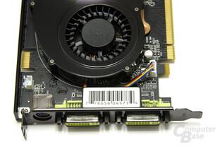 GeForce 9600 GSO 680M XXX Anschlüsse