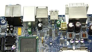 Intel GD45FC Anschlüsse von oben
