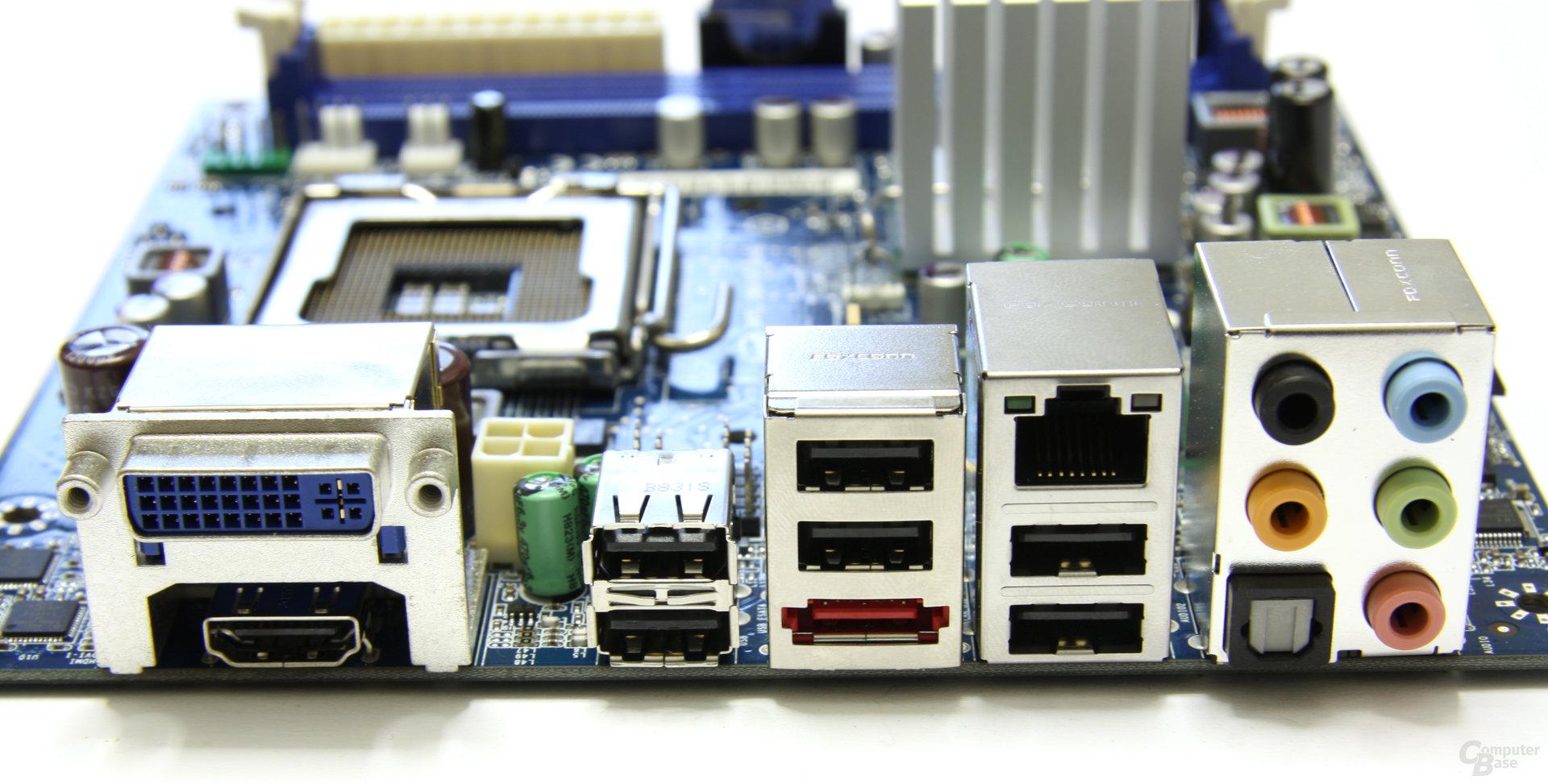 Intel GD45FC Anschlüsse