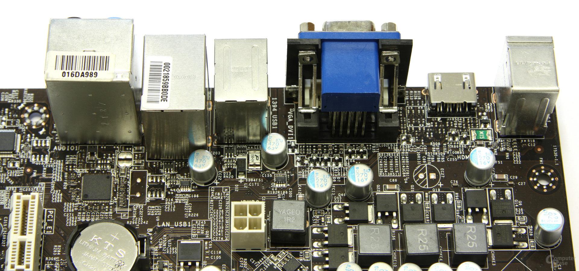 MSI P7NGM-Digital Anschlüsse von oben