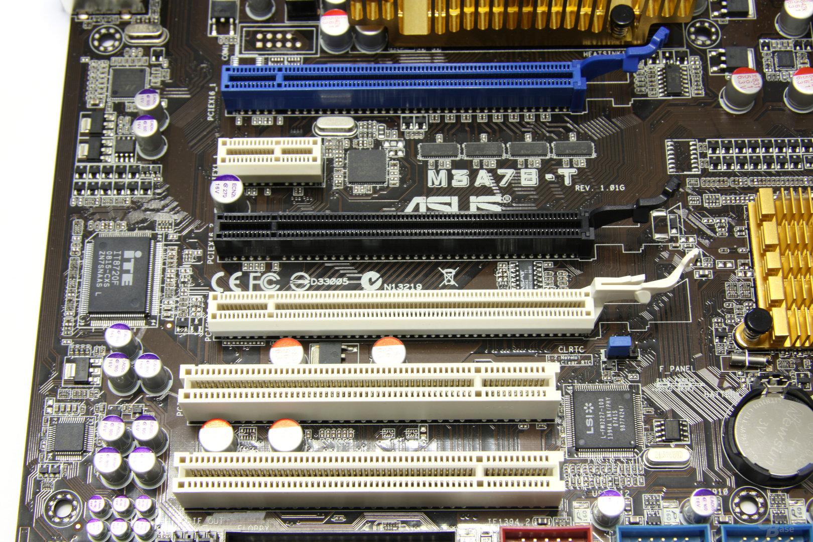 Asus M3A78-T PCIe-Slots