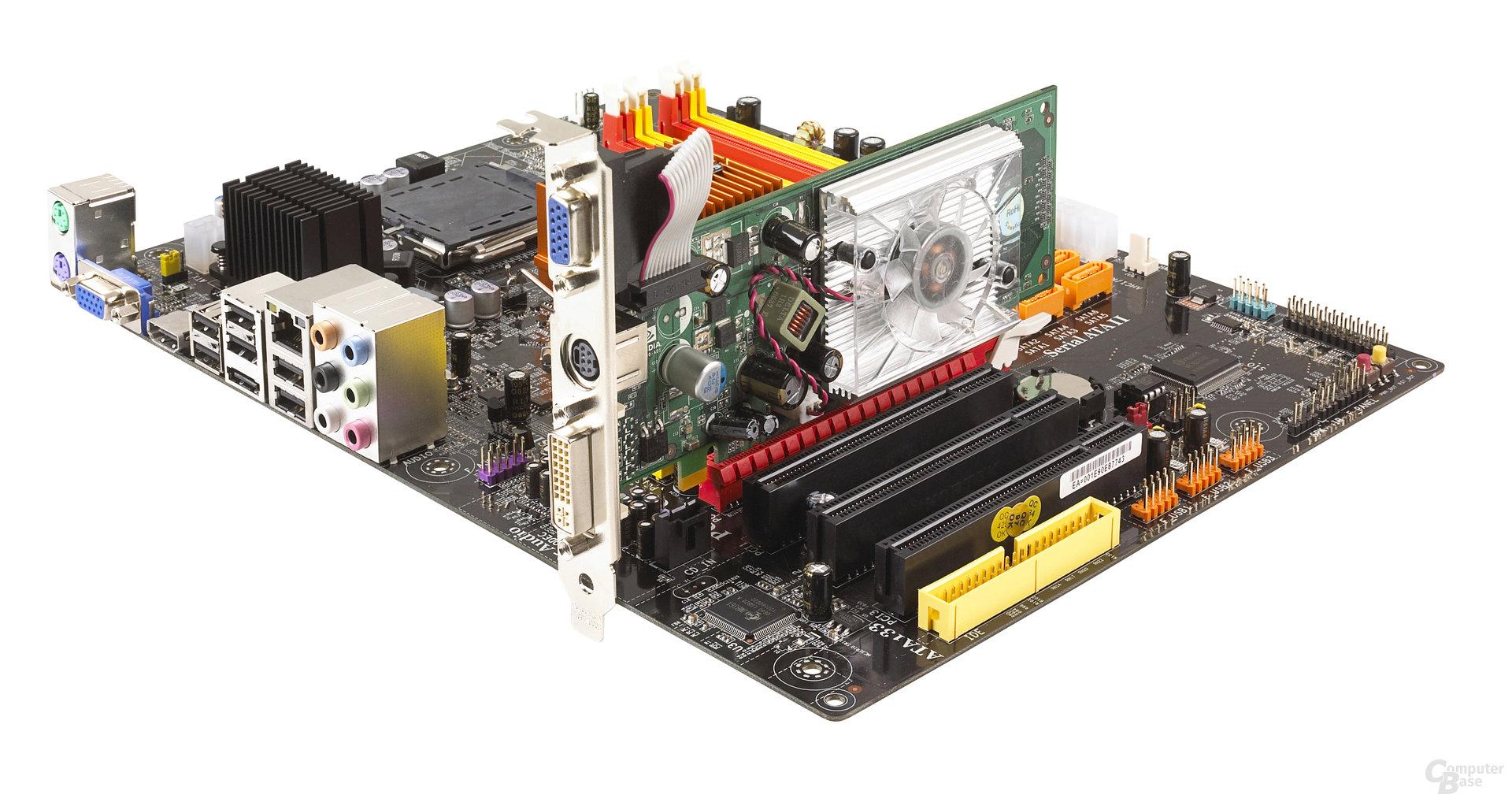 ECS-Platine mit GeForce 8400