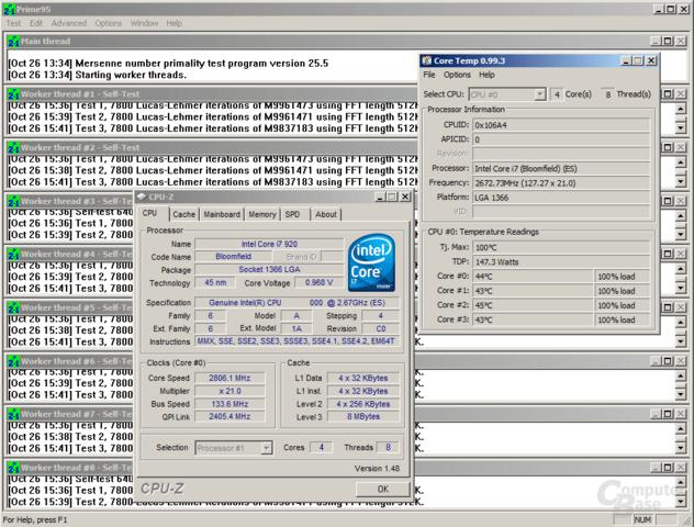 Core i7-920 bei 0,97 Volt