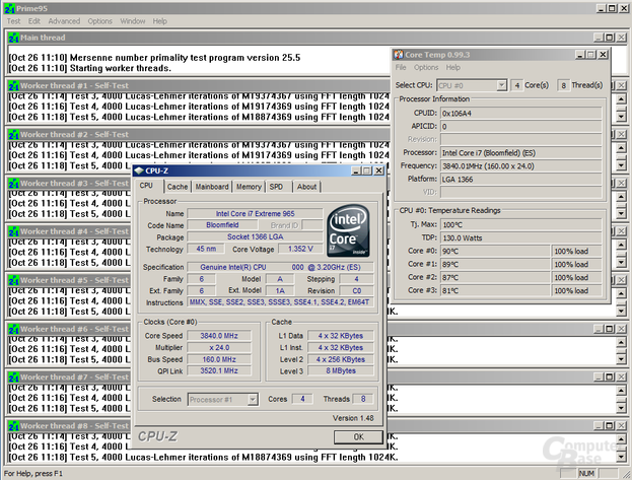 Core i7-965 XE bei 3,84 GHz