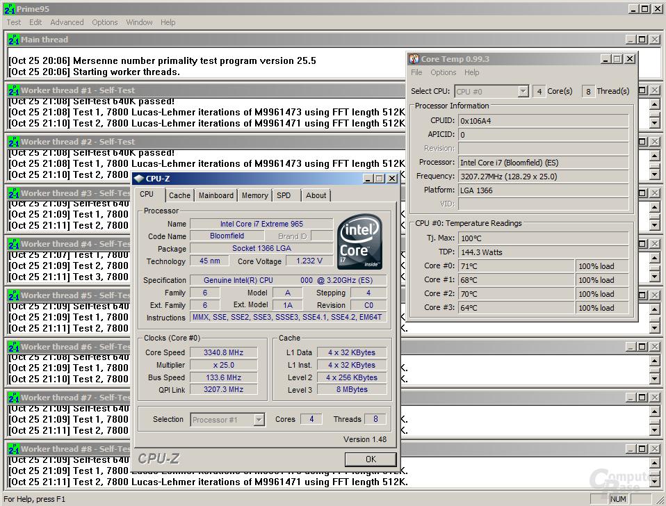 Core i7-965 XE mit Noctua