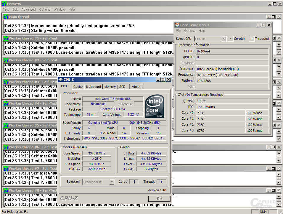 Core i7-965 XE mit Thermalright Ultra-102 eXtreme
