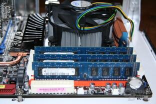 Core i7-965 XE mit Qimonda-Speicher und Boxed-Lüfter