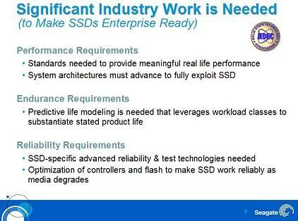 Seagate-Präsentation zum Thema SSD