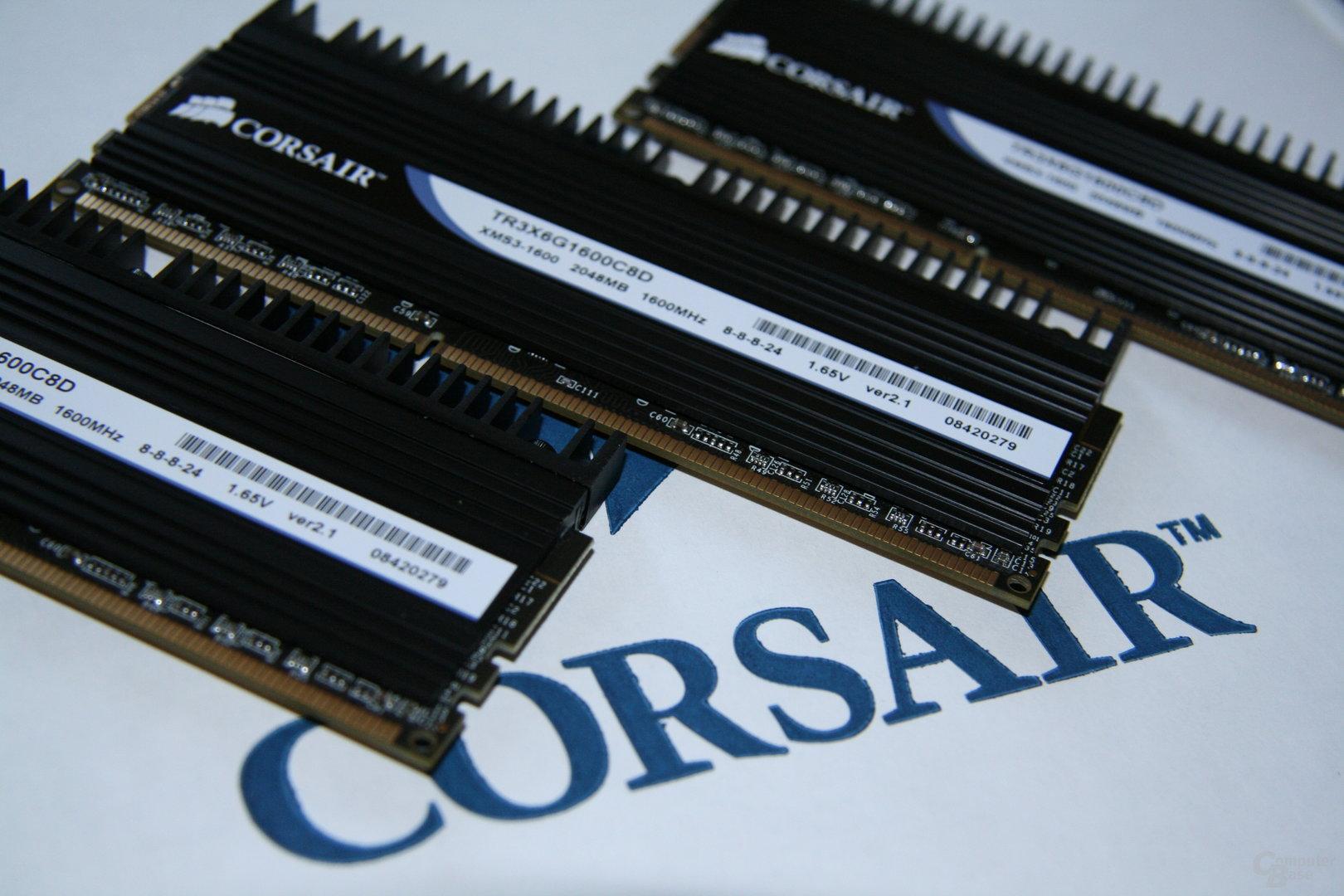 bei 1,65 VoltCorsair Dominator DDR3-1600 bei 1,65 Volt