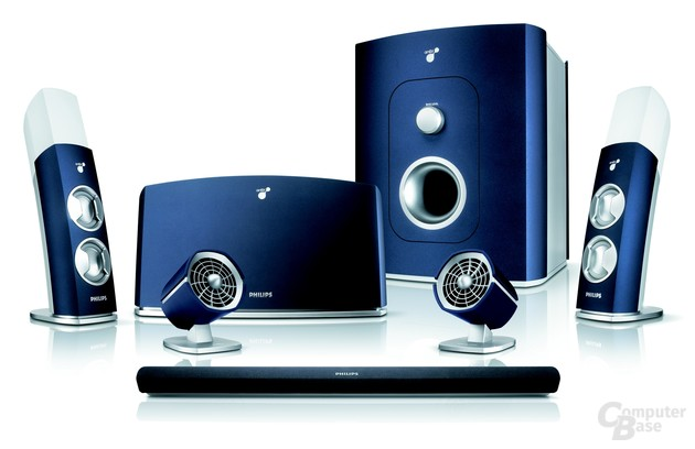 Philips amBX-Soundsystem mit Licht-, Virbrations- und Windeffekten