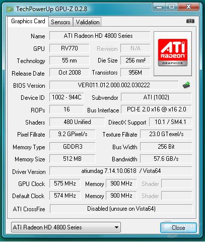 GPU-Z Radeon HD 4830