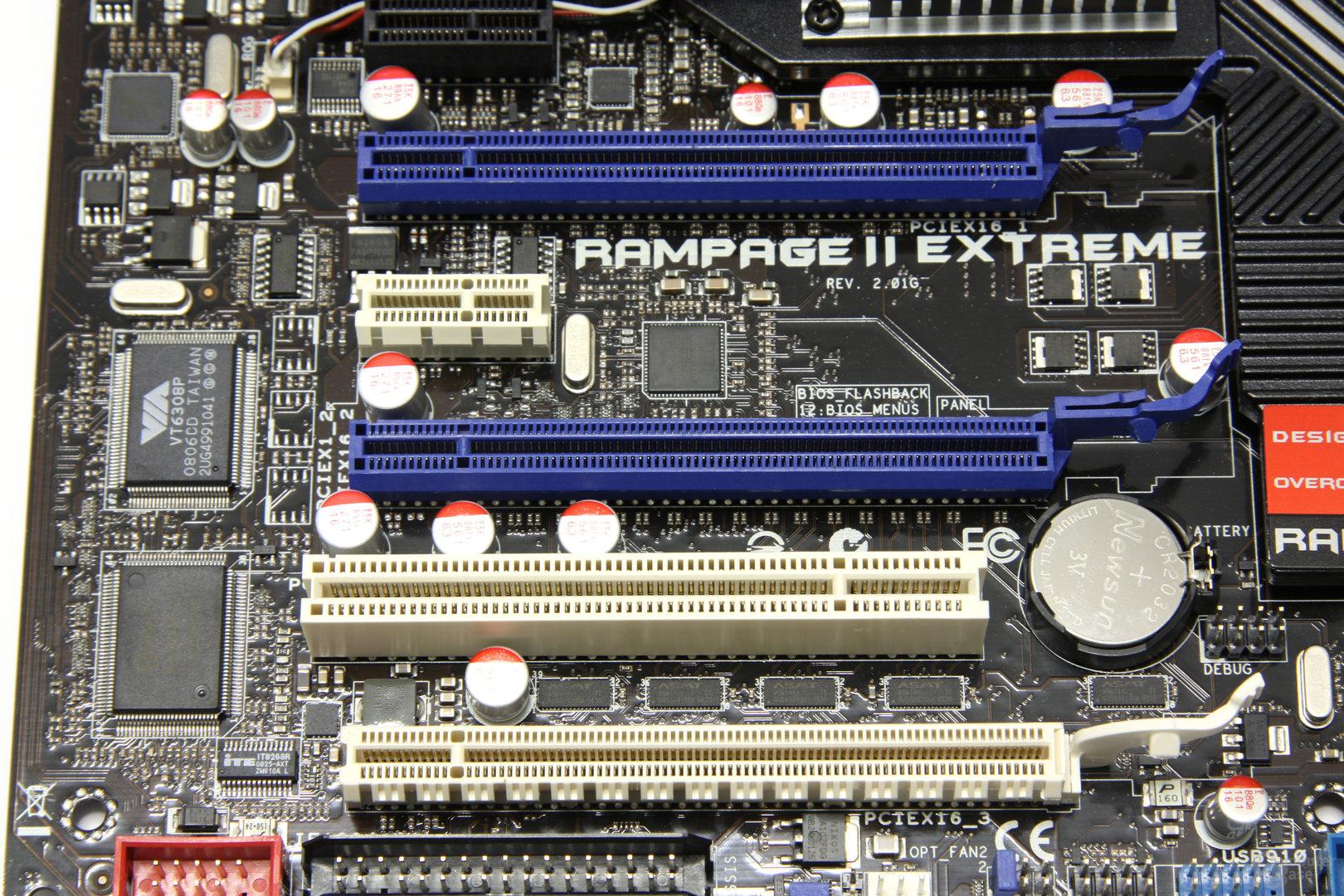 Rampage 2 Extreme PCIe-Slots