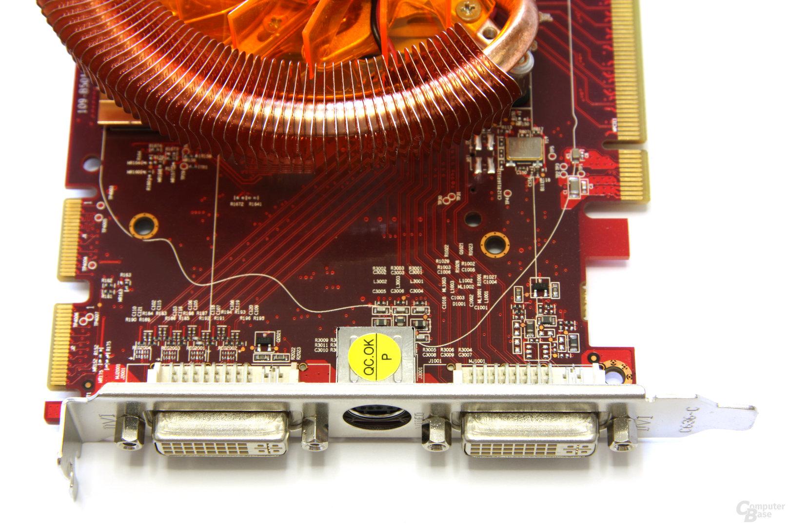 Radeon HD 4850 PCS+ Anschlüsse