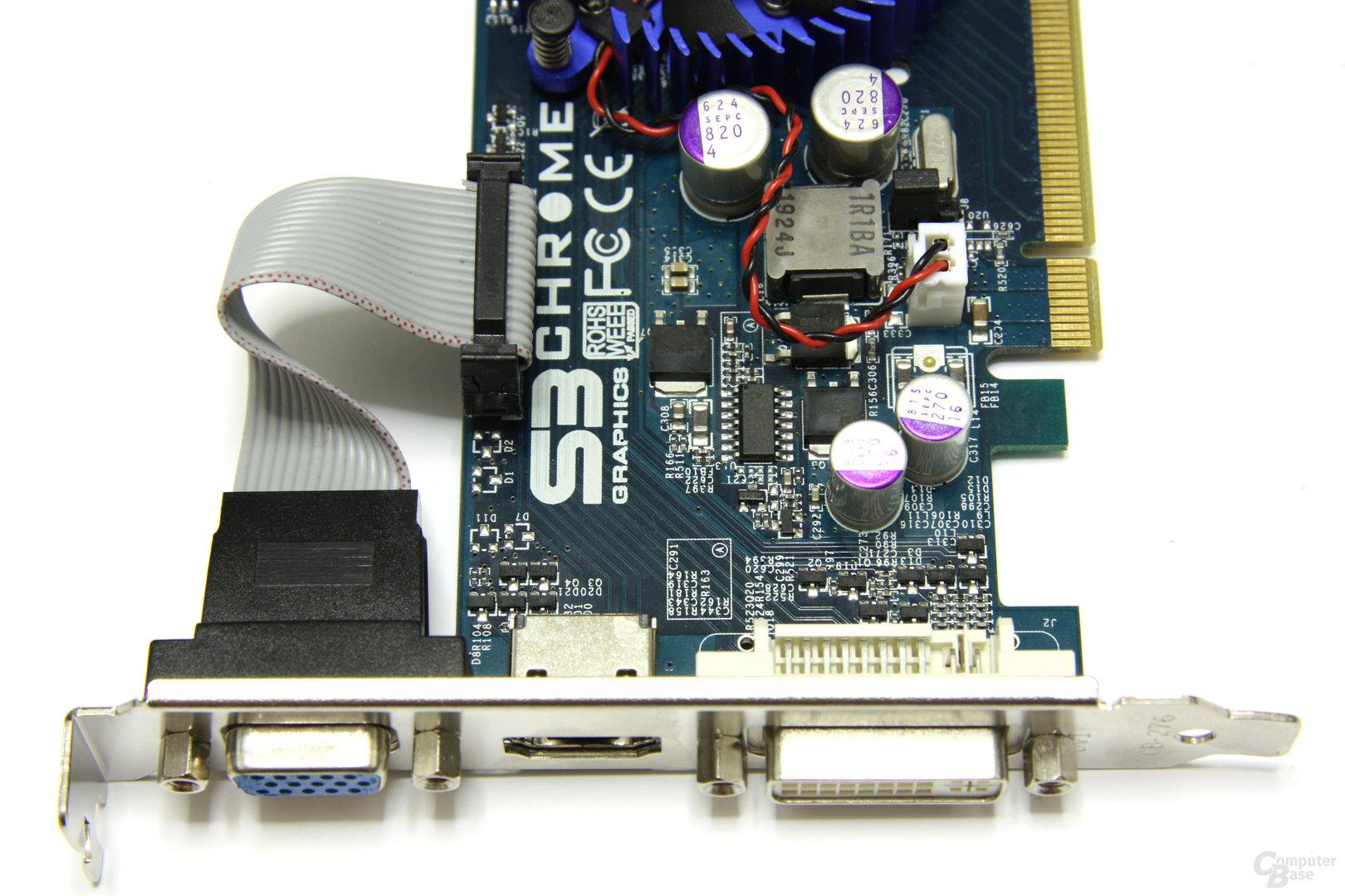 Chrome 440 GTX Anschlüsse