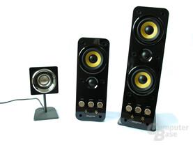 Größenvergleich der Lautsprecher