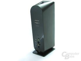 Rückseite eines Lautsprechers des GigaWorks T40 Series II
