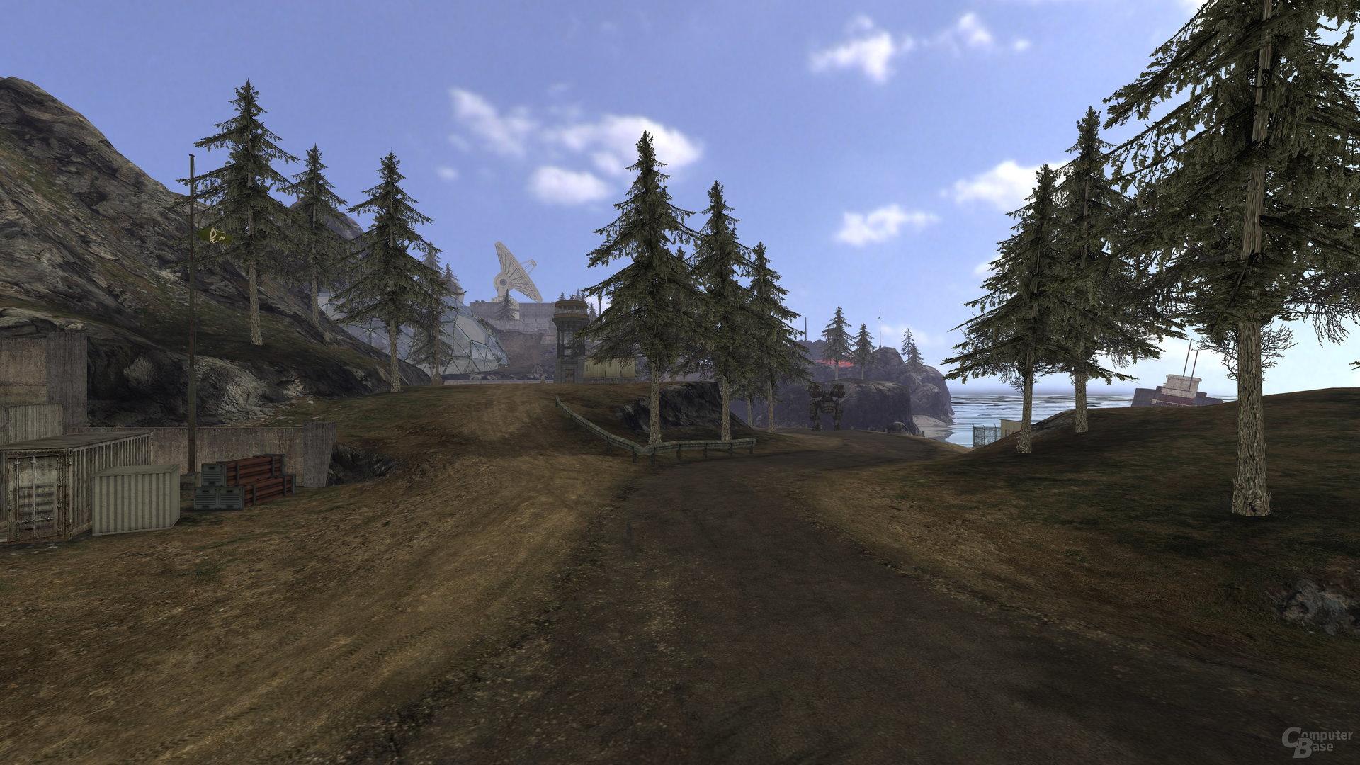 Quake Wars: Raytraced mit Texturen (ohne Beleuchtung)