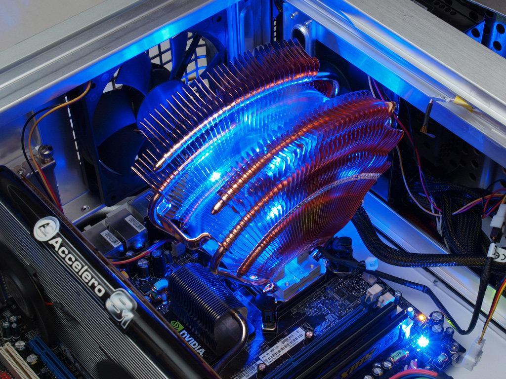 Blaue Beleuchtung als Finish