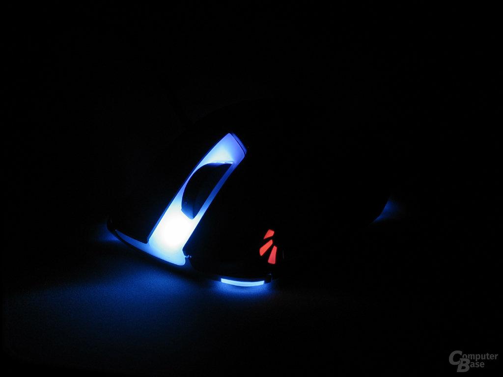 Slider X 600: Blau beleuchtet und DPI-High