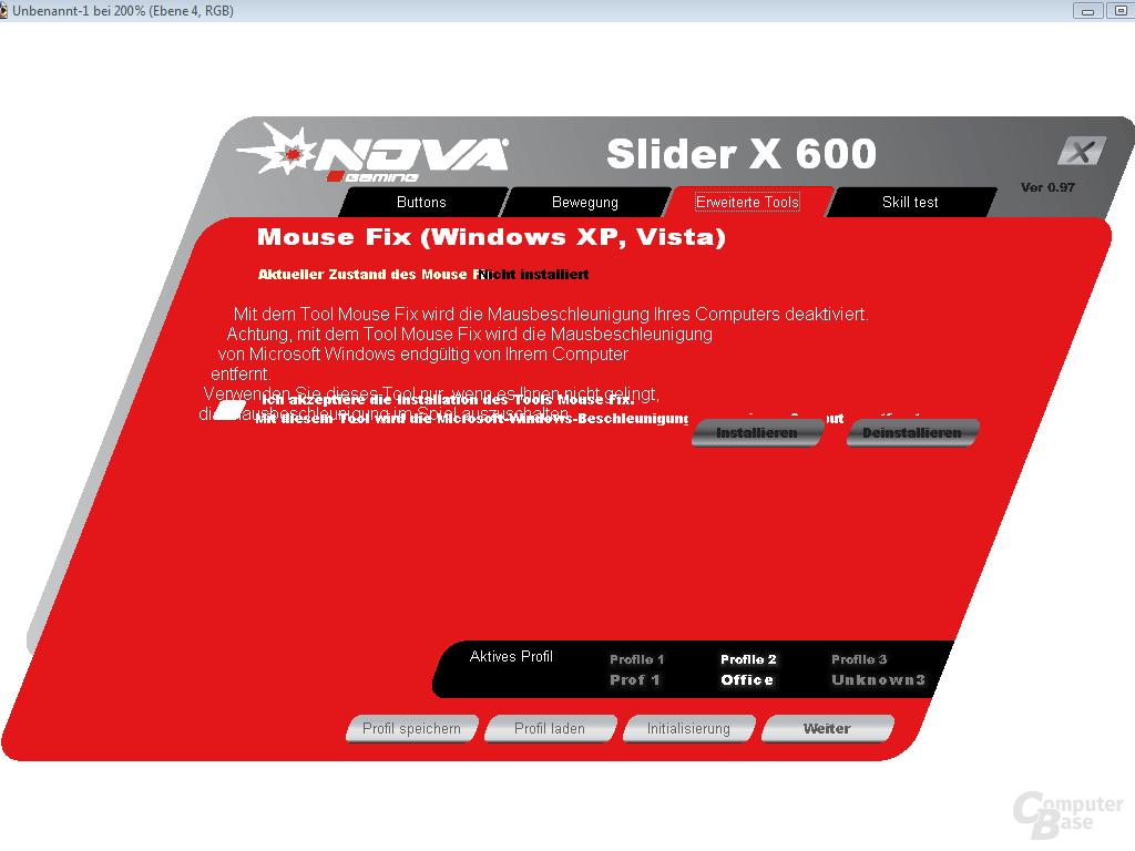 Mouse-Fix zur Deaktivierung der windowsinternen Mausbeschleunigung