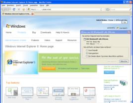 Angebliche Microsoft-Seite