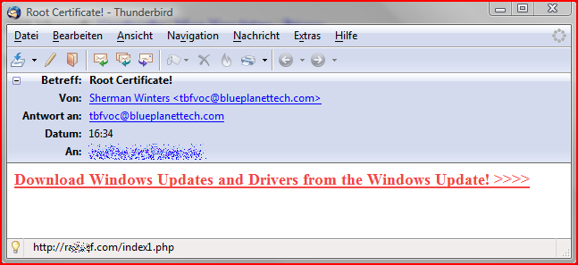 Spam-Mail mit angeblicher Internet Explorer 8 Beta