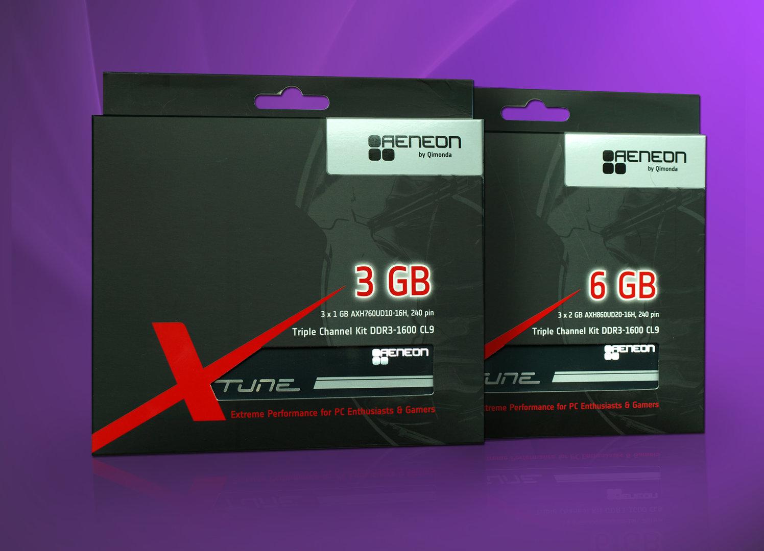 DDR3-1600 Triple-Channel-Kits von Aeneon