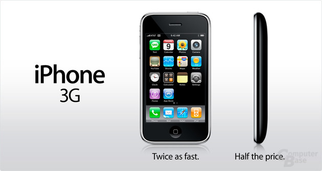 Werbung zum Apple iPhone 3G