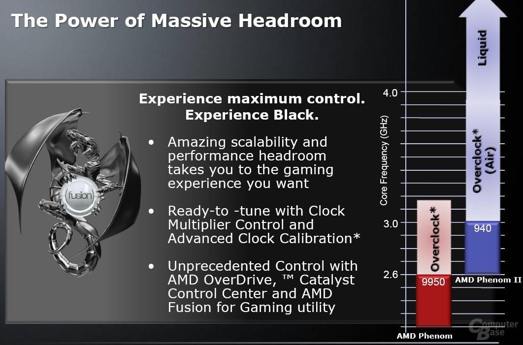 Phenom II und die Möglichkeiten des Overclockins - aus AMDs Sicht
