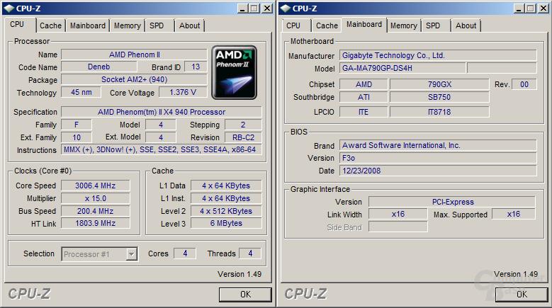 Gigabyte 790GX mit BIOS F3o