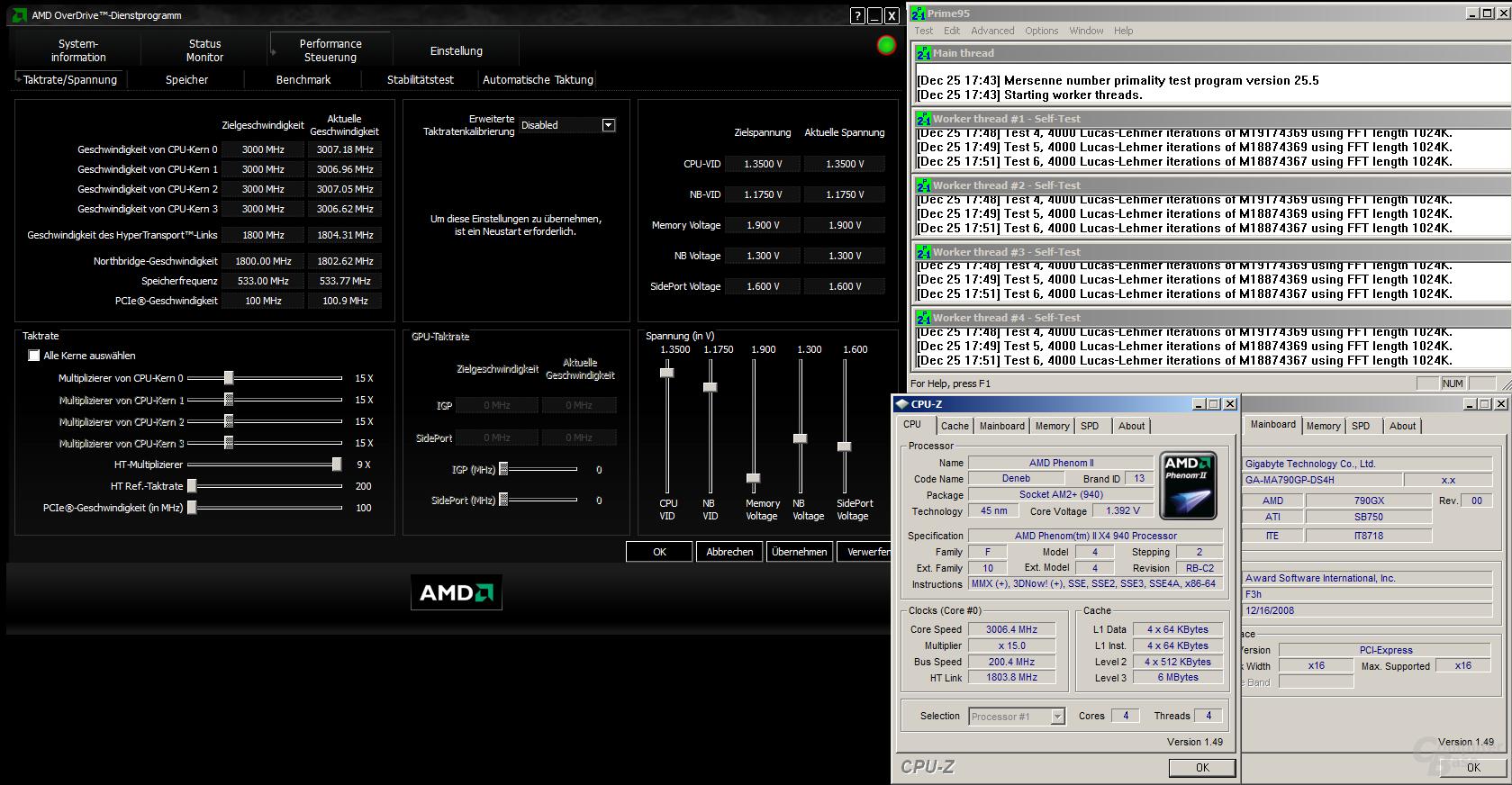 Gigabyte 790GX mit BIOS F3h - massiv erhöhte Spannung