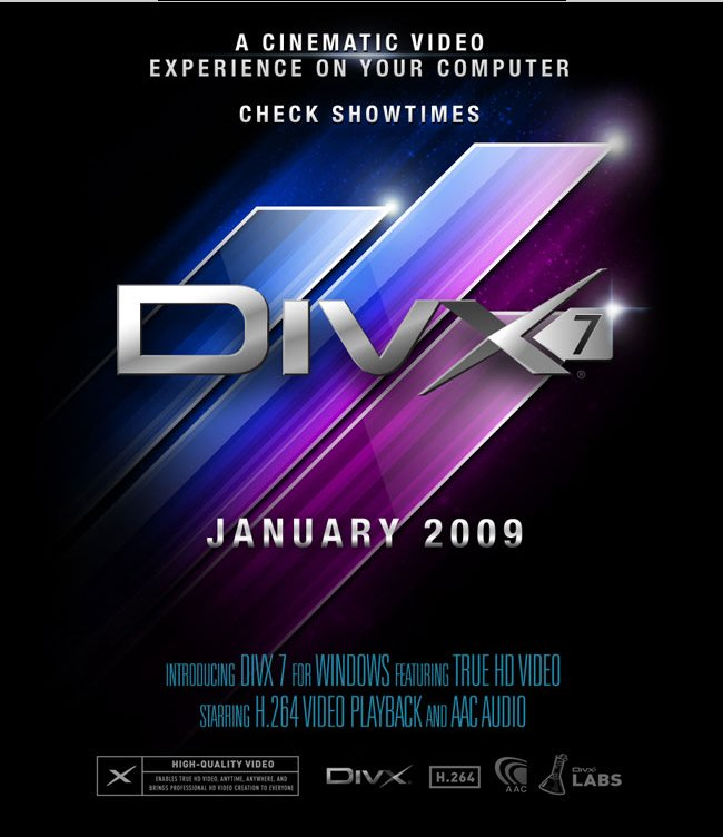 DivX 7 im Januar 2009