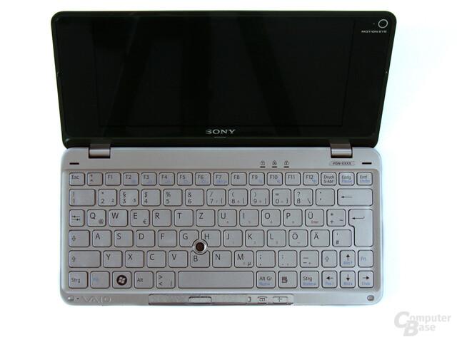 Tastaturlayout des Sony Vaio P