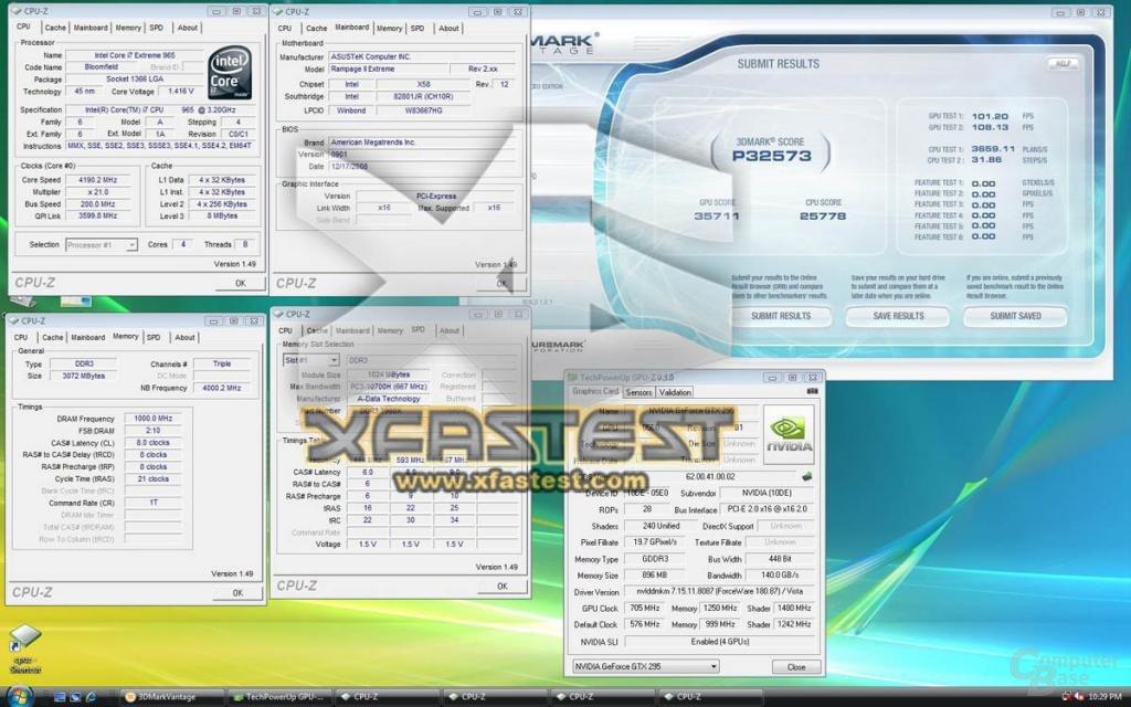 GeForce GTX 295 im SLI-Verbund