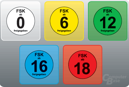 Neue FSK-Logos für Bildträger