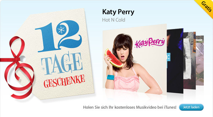 28.12. Katy Perry: Hot N Cold (Musikvideo)