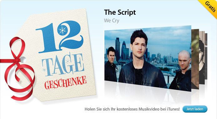 30.12. The Script: We Cry (Musikvideo)