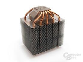 Zehn 6-mm-Heatpipes sorgen für den Wärmetransport