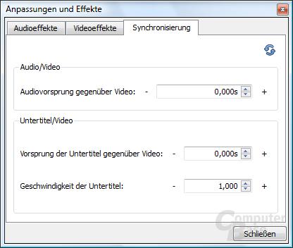 VLC Media Player – Synchronisierung