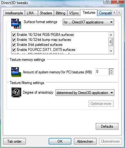 RivaTuner – Direct3D Tweaks