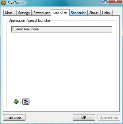 RivaTuner – Launcher
