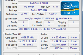 CPU – Intel Core i7 3770K