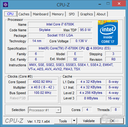 CPU – Intel Core i7 6700K
