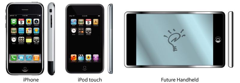 Mögliches Design des künftigen Apple-Handhelds; Quelle: AppleInsider (2007)