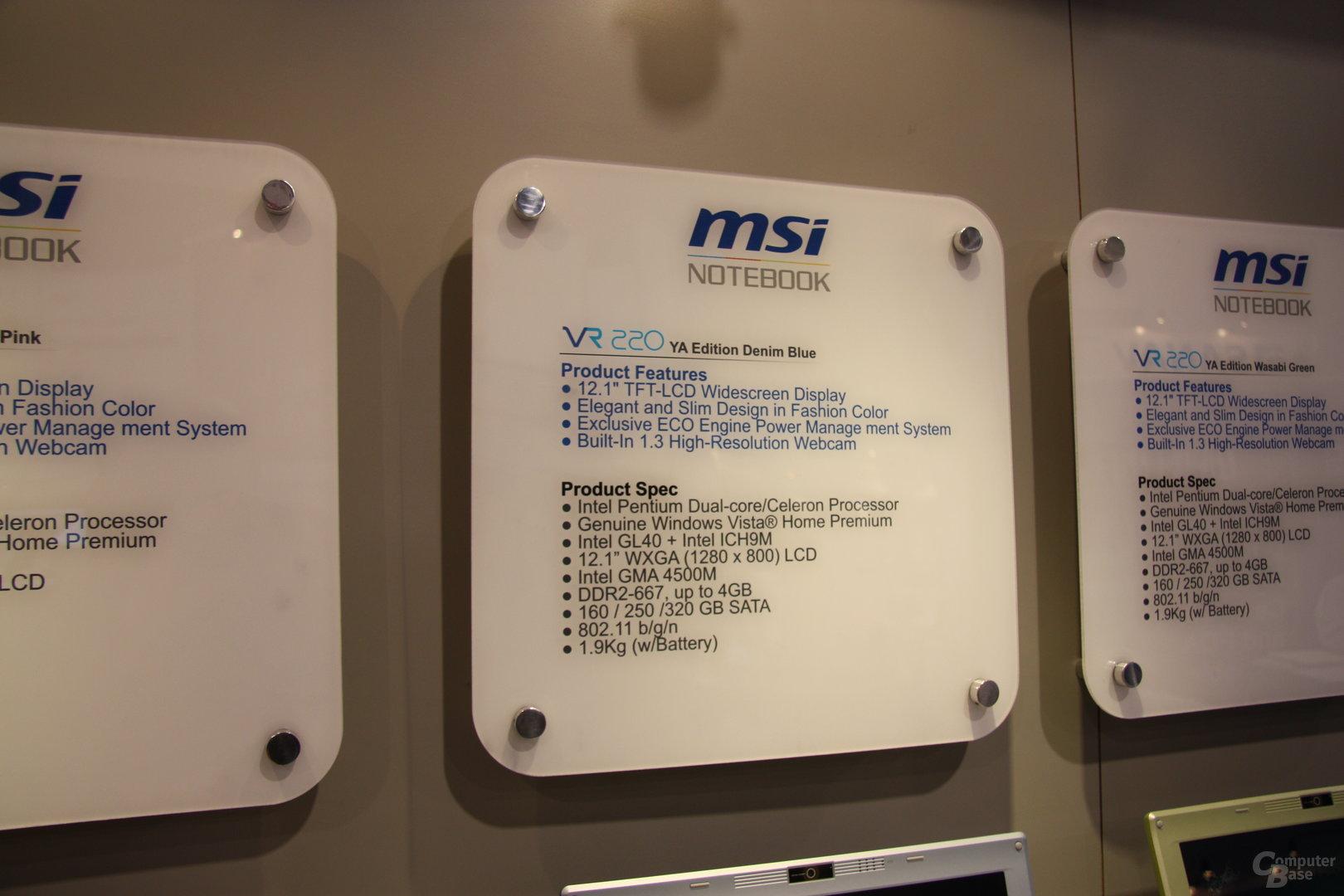 MSI auf der CES 2009