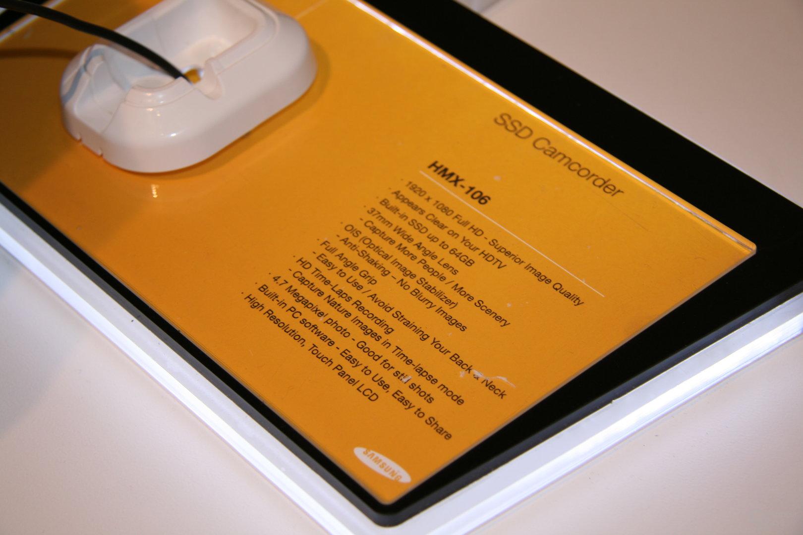 Samsung Camcorder mit SSD auf der CES 2009