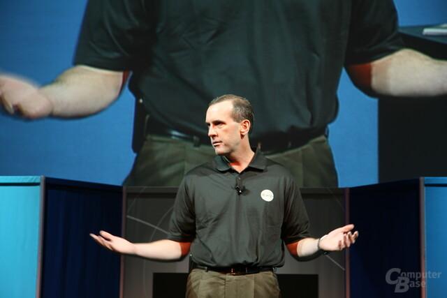 AMD-CEO Dirk Meyer auf der Keynote