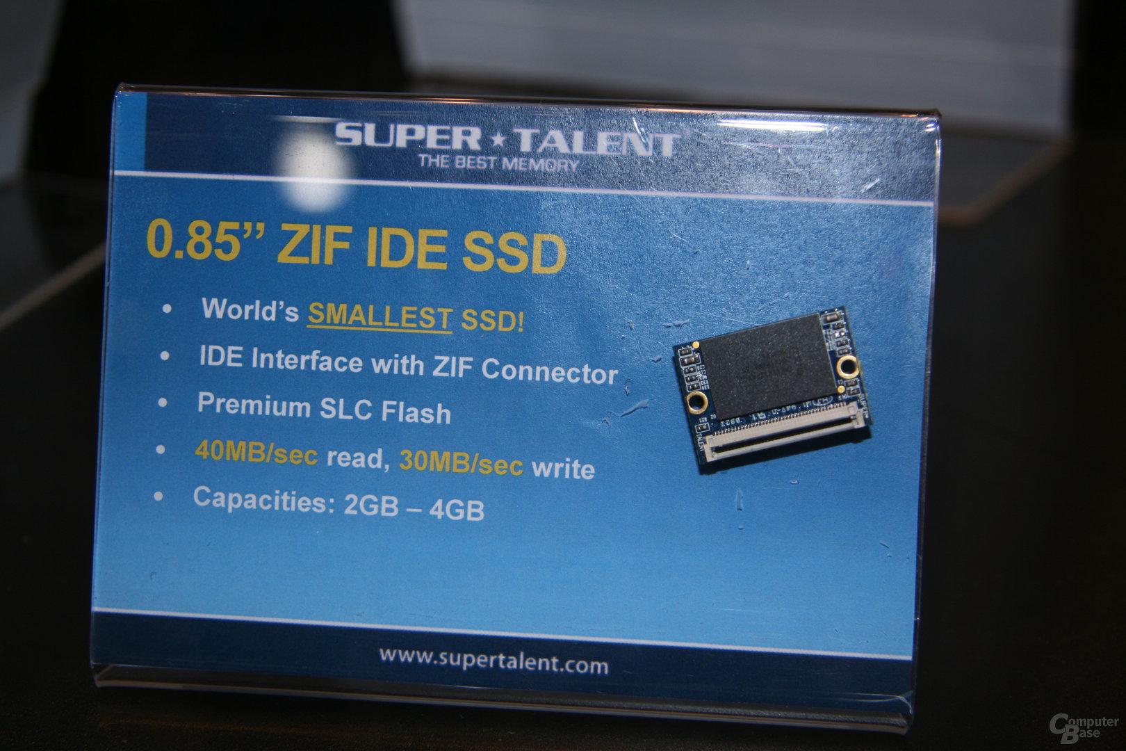 Super Talent auf der CES 2009: Worlds smallest SSD
