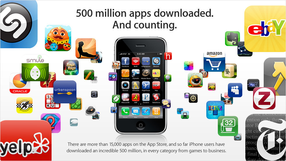 Apple App Store 500 Mio